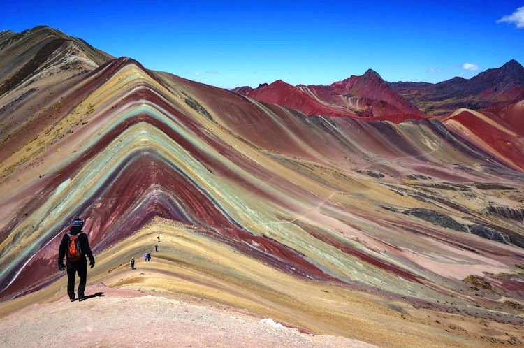 Rainbow Mountains in Peru. geology in