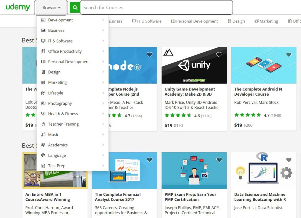 منصة يوديمي للتعلم عبر الانترنت